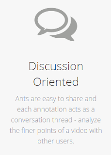 Ants are easy to share and each annotation acts as a conversation thread - analyze the finer points of a video with other users.