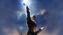 Captain America With Mjolnir Wallpaper 4 K