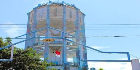 Keindahan Kota Tegal dilihat dari Menara Air Tegal (waterleiding)
