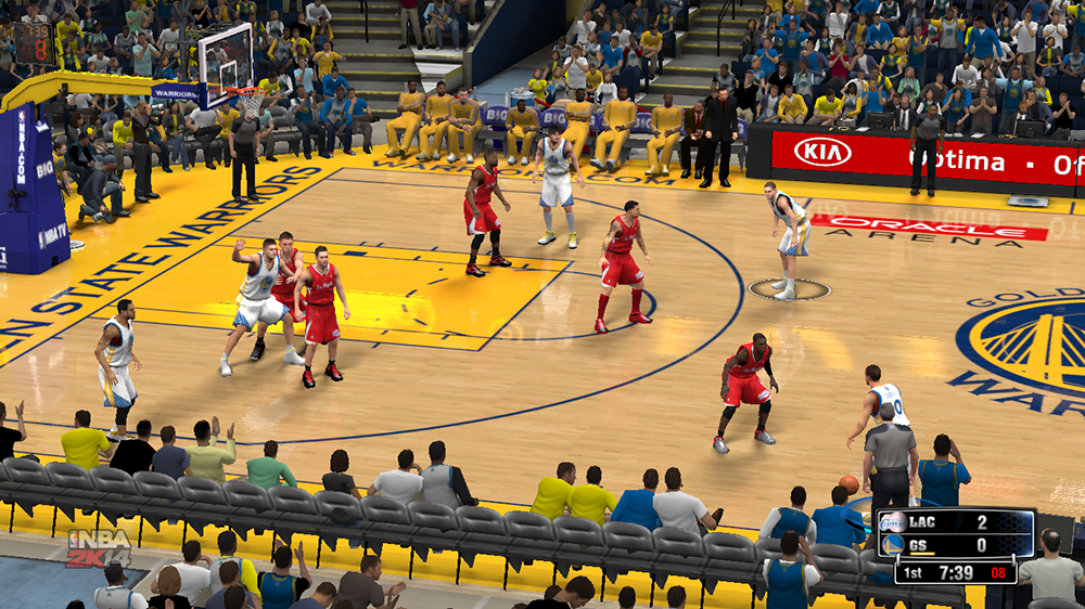 NBA 2K14 Golden St. Warriors Court Mod