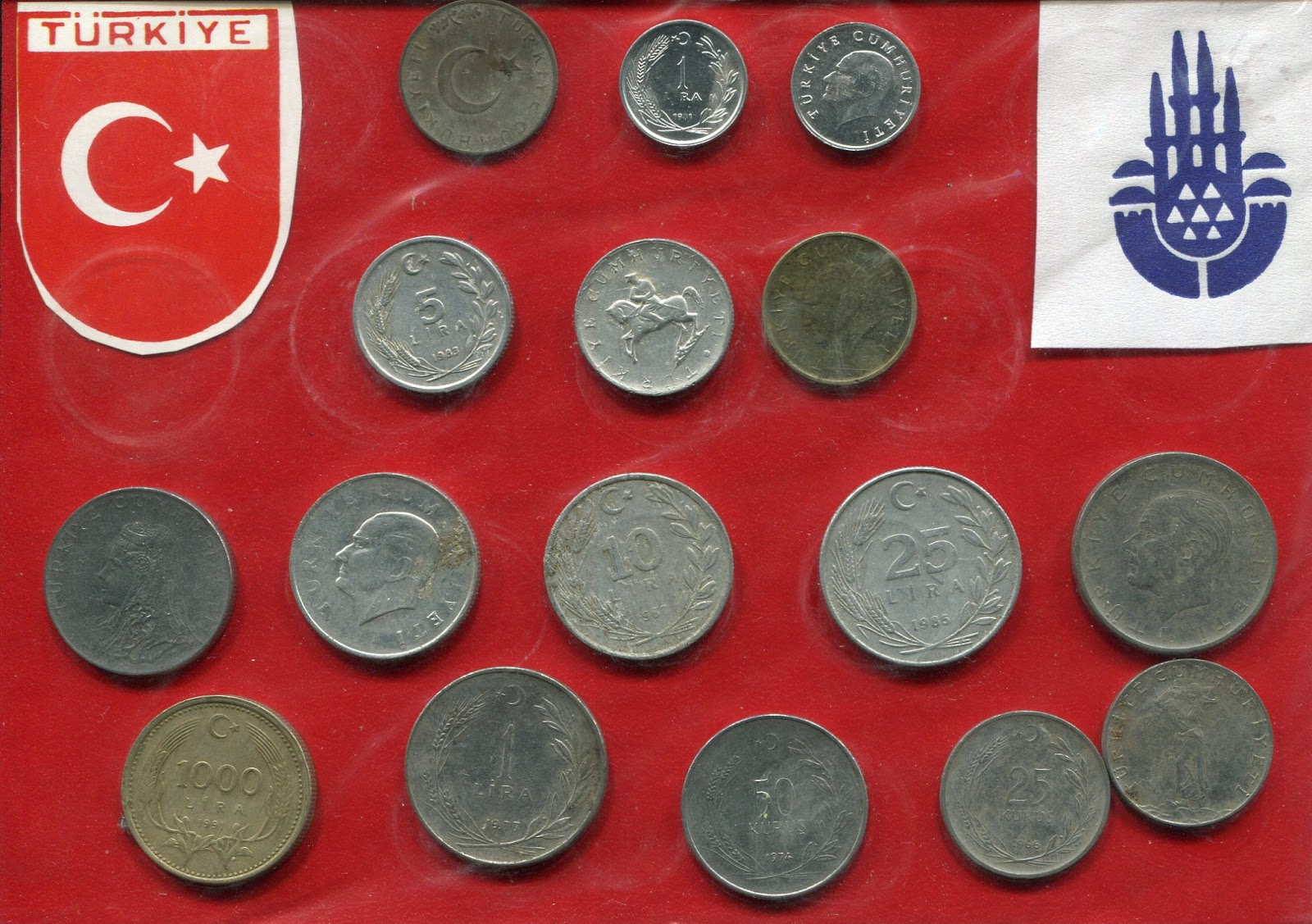 The Above Is Another Orted Collection Of First Turkish Lira Coins In Top Row A 1 Coin 1981 Second 5 1983