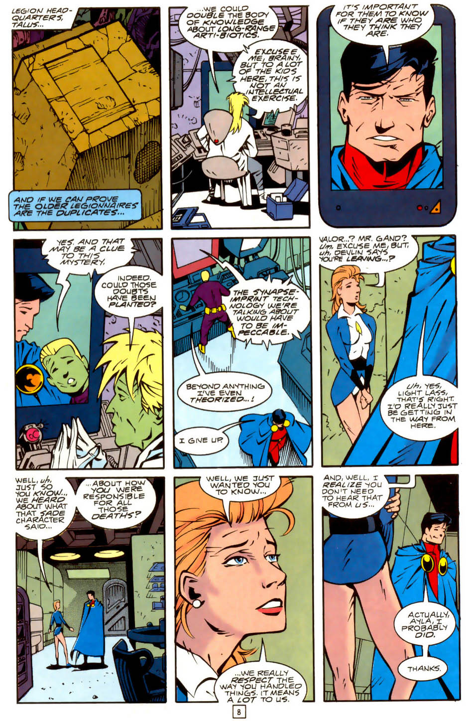 Legion of Super-Heroes (1989) 36 Page 8