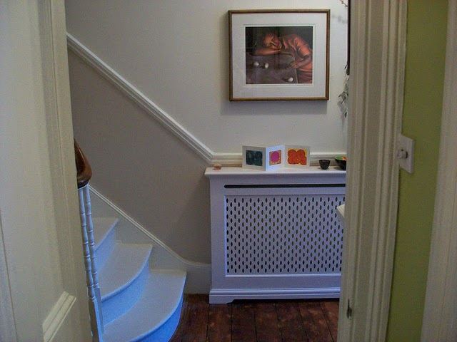 Farrow and Ball Elephant's Breath Victorian hallway
