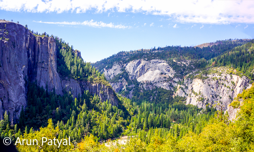 These spectacular views start welcome you at entrance of Yosemite Valley. Landscapes with mix of huge trees and rocks in contrasting colors make yosemite very special ad that's why it secures the places in to-do list of many travelers across the world.