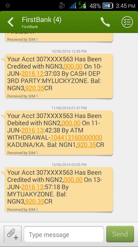naira credit bank alert