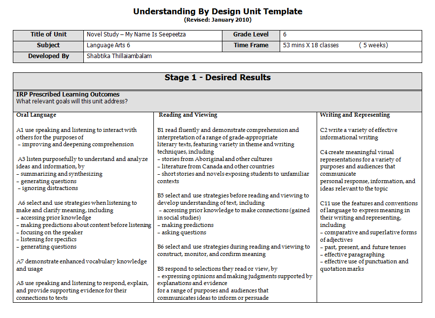 Teaching Practicum: Lesson Plan Detailed Sample