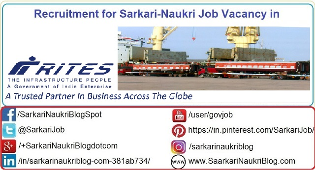 Naukri Vacancy Recruitment Rites Limited