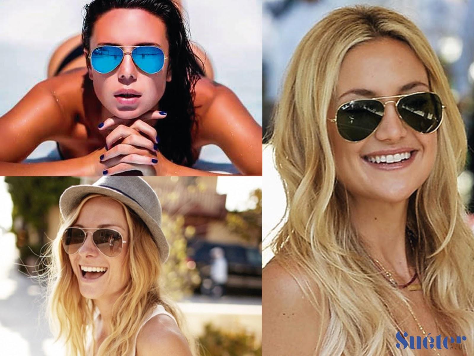 535f0714f3c9f Tendências óculos de sol verão 2016 - Suéter Azul