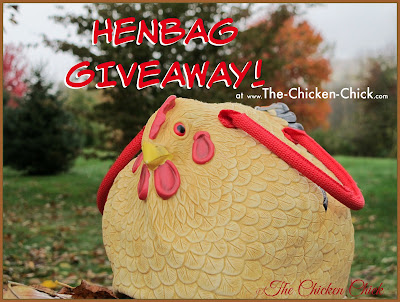 Henbag chicken purse GIVEAWAY at The Chicken Chick's Clever Chicks Blog Hop!