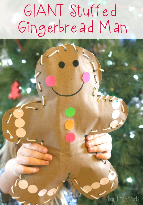 Diy Jumbo Stuffed Gingerbread Man Craft School Time Snippets