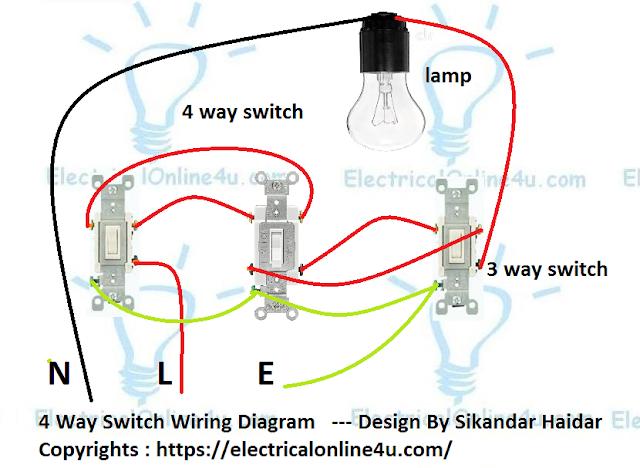 4 way switch wiring diagram