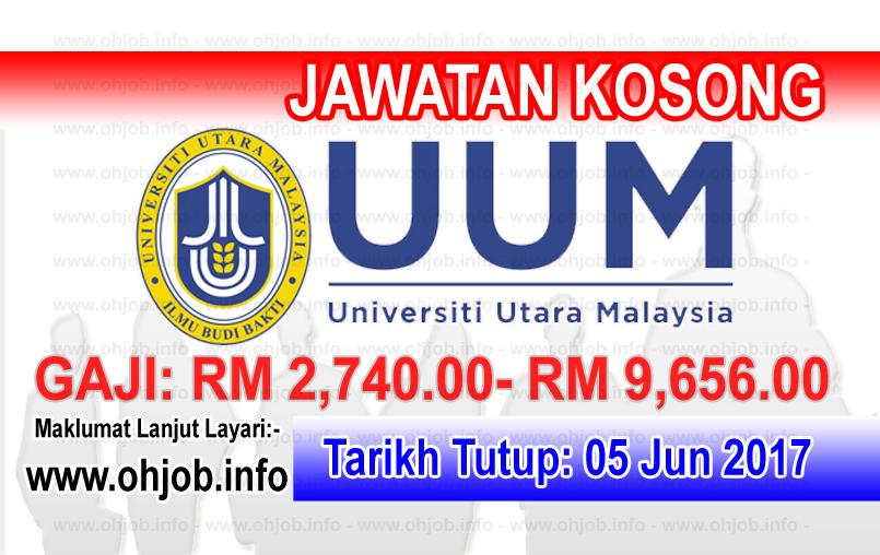 Jawatan Kerja Kosong UUM - Universiti Utara Malaysia logo www.ohjob.info jun 2017