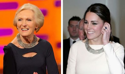 Mary Berry and Kate with same Zara necklace