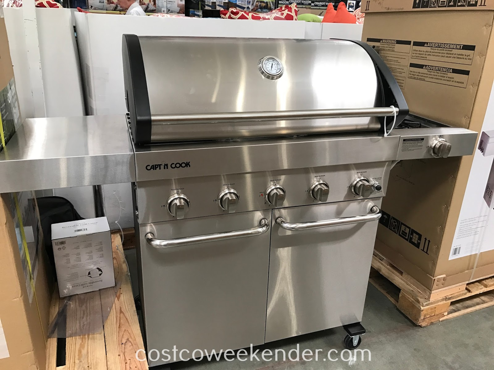 Get the summer grilling season started with the Capt'N Cook 5-Burner LP Gas Grill