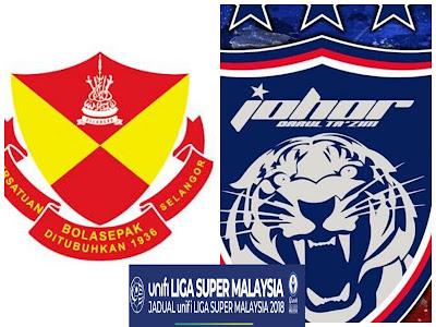 Live Streaming Selangor vs JDT FC 12 Mei 2018 Liga Super