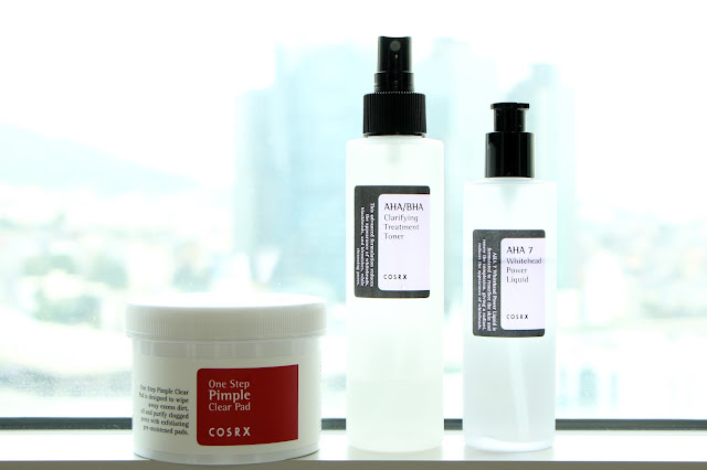 COSRX One Step Pimple Clear Pad, AHA/BHA Clarifying Treatment Toner, AHA 7 Whitehead Power Liquid