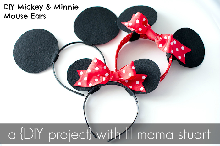A With Lil Mama Stuart Diy Mickey Minnie Mouse Ears
