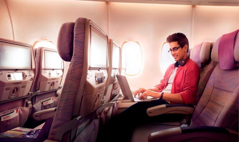 Linie lotnicze, internet w samolocie cena, wifi w samolocie, wi fi w Emirates, Internet w Emirates, Emirates, Dubaj,