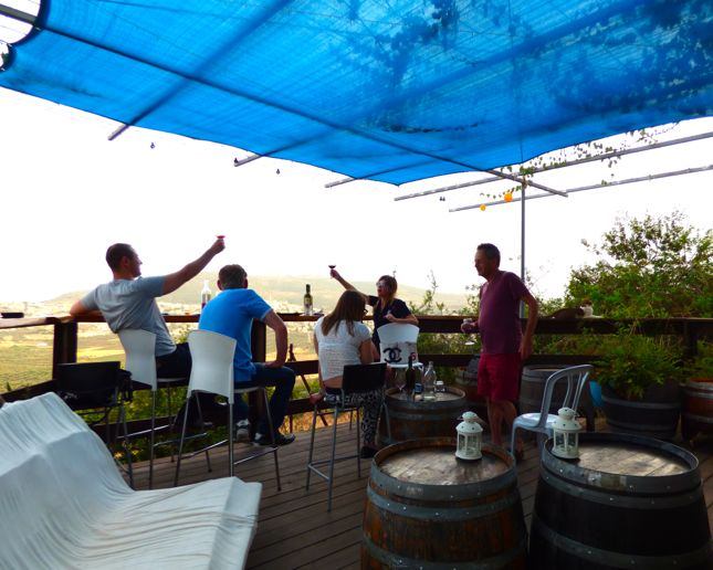 From Lotem Winery balcony, we could see all the way from the sea of Galilee and the Golan Heights to the Lower Galilee