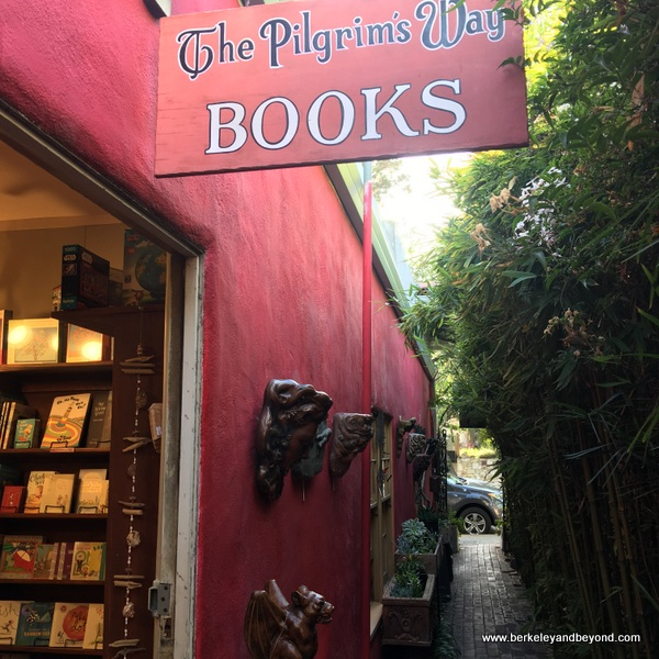 entrance to Pilgrim's Way Books shop in Carmel, California