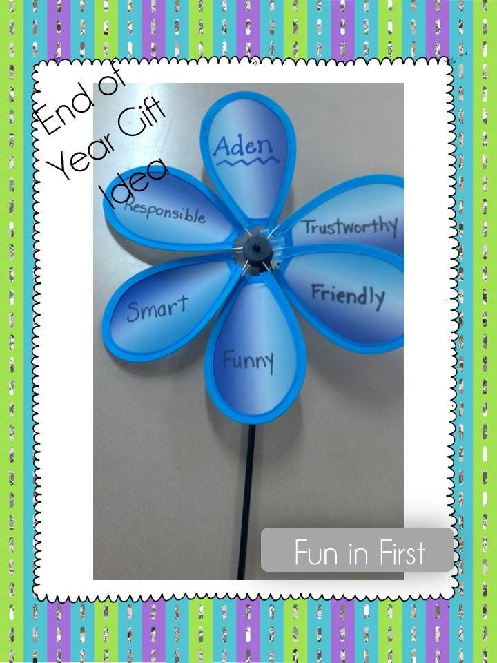 End of the Year Gift Idea - Fun in First