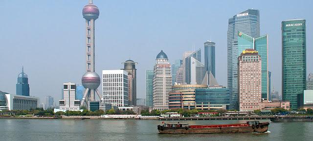 Le quartier Pudong à Shanghai