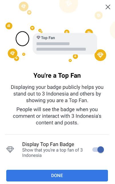 cara mengatur badge top fan di facebook