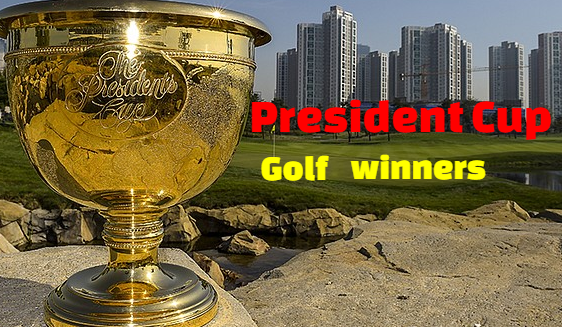 Presidents Cup,  golf,  past champions-winners, list, by year,  history.