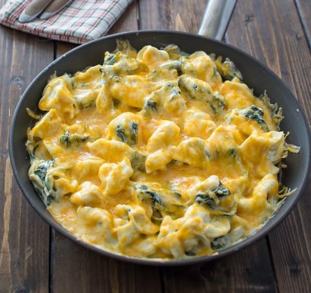 Creamy Spinach Tortellini #dinner #pasta