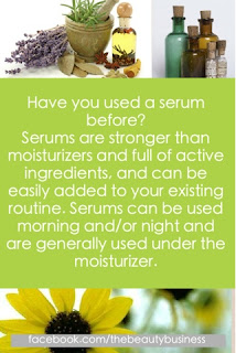 using a skin serum