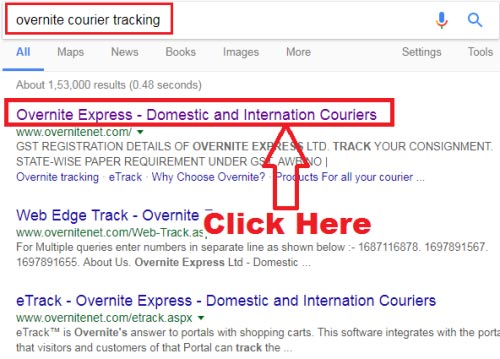 how to track overnite courier online