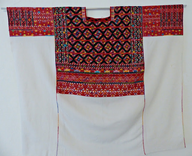 Embroidered huipil from Tenejapa region, Chiapas, Mexico