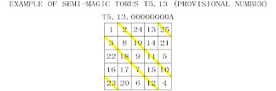 order 5 semi-magic torus type 13