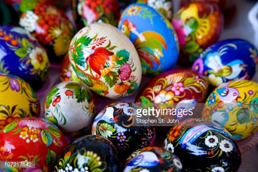 cute easter eggs art work decoration ideas