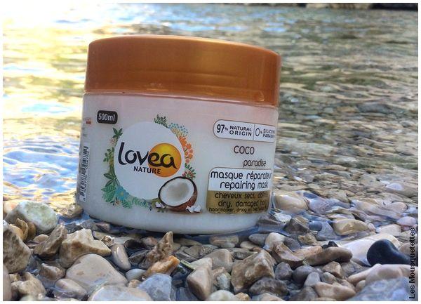 Avis Blog : Le masque réparateur Coco Paradise, huile coco, Lovea