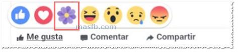 Botón - Reacción Gracias en Facebook - MasFB