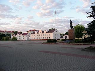 Лунинець. Площа ім. Леніна. Пам'ятник В. І. Леніну
