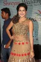 Jenny in brown transparent sleeveless anarkali dress at Shamanthakamani pre release function ~  Exclusive 022.JPG