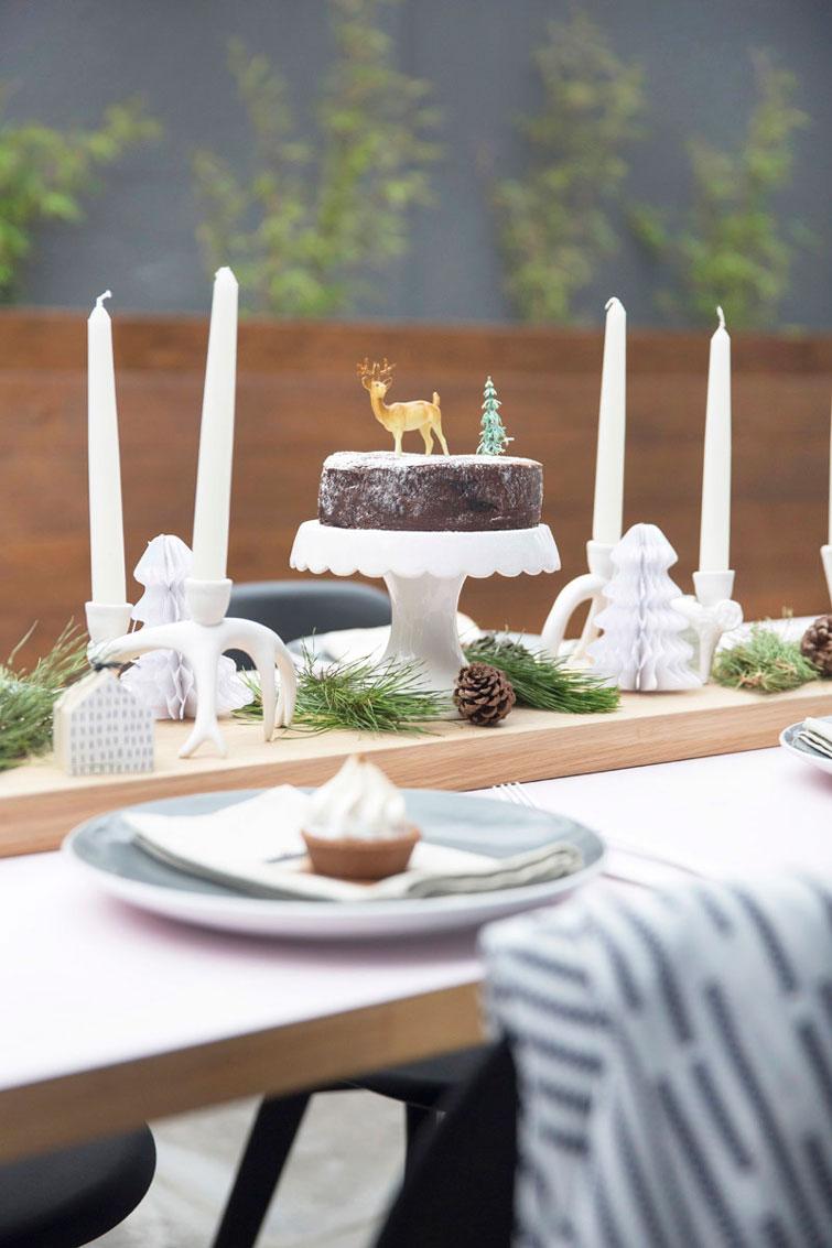 Una mesa muy nórdica para las cenas de Navidad