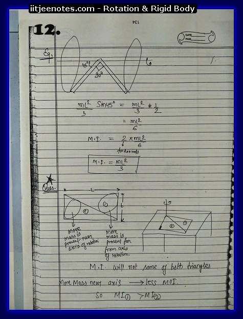 Rotation and Rigid body Notes 2