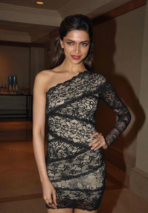 Deepika Padukone Legs Show Stills In Hot Black Short Dress