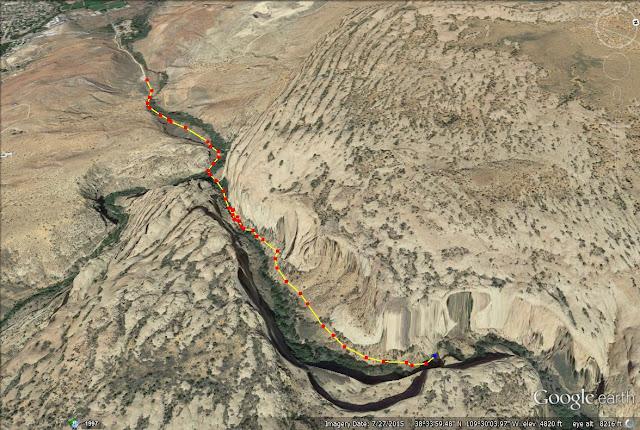 Left Fork of Mill Creek trail map, Moab, Utah