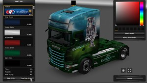 Euro 2016 Football Skin for Scania RJL