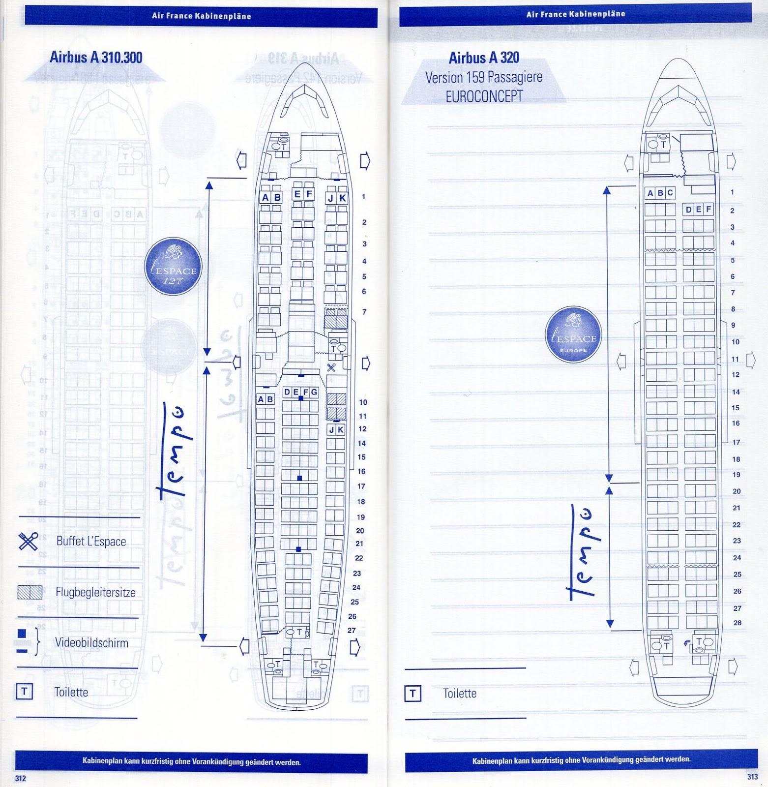 Airline memorabilia: Air France (1999), Alemania