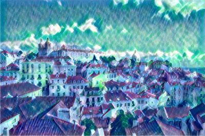 Lisboa - Miradouro das Portas do Sol_Rain