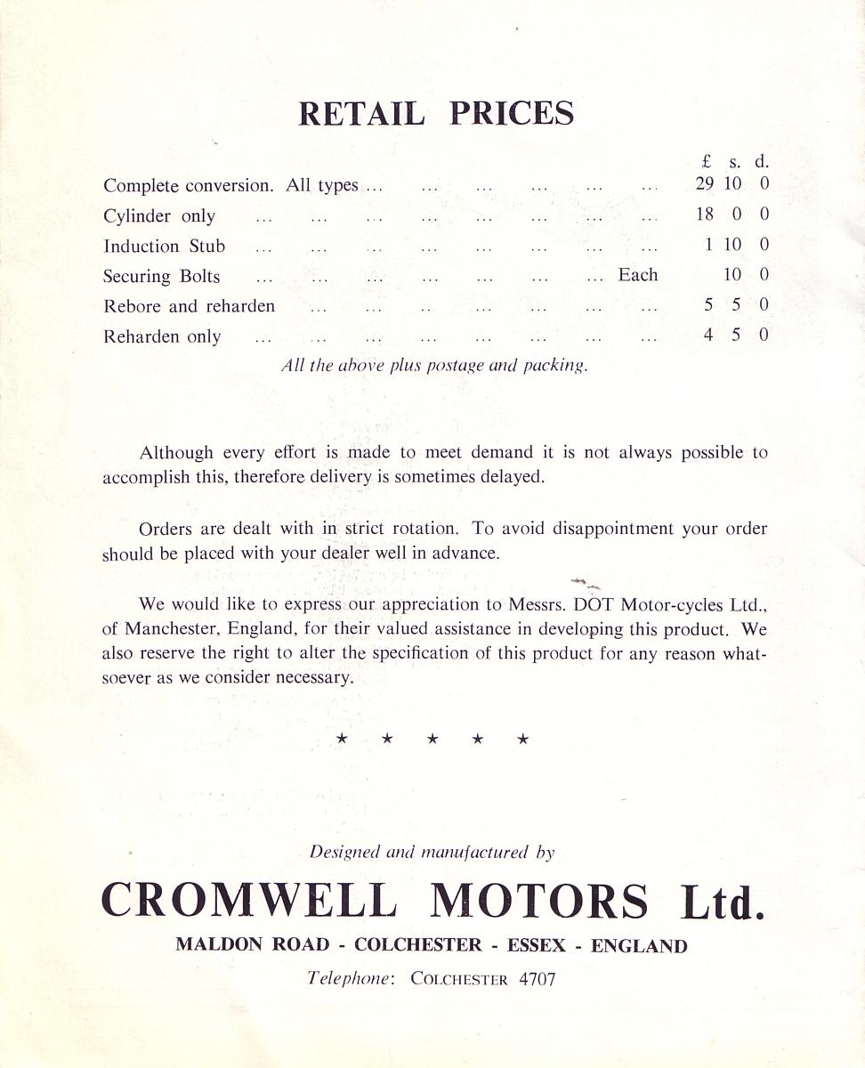 Red Devil Motors: Marcelle Villiers alloy barrel conversion