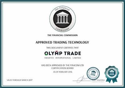 Брокер Olymp Trade с лицензией FinaCom (Международная Финансовая Комиссия) и ЦРОФР