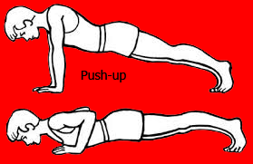 Push-up (Telungkup Dorong Angat Beban)