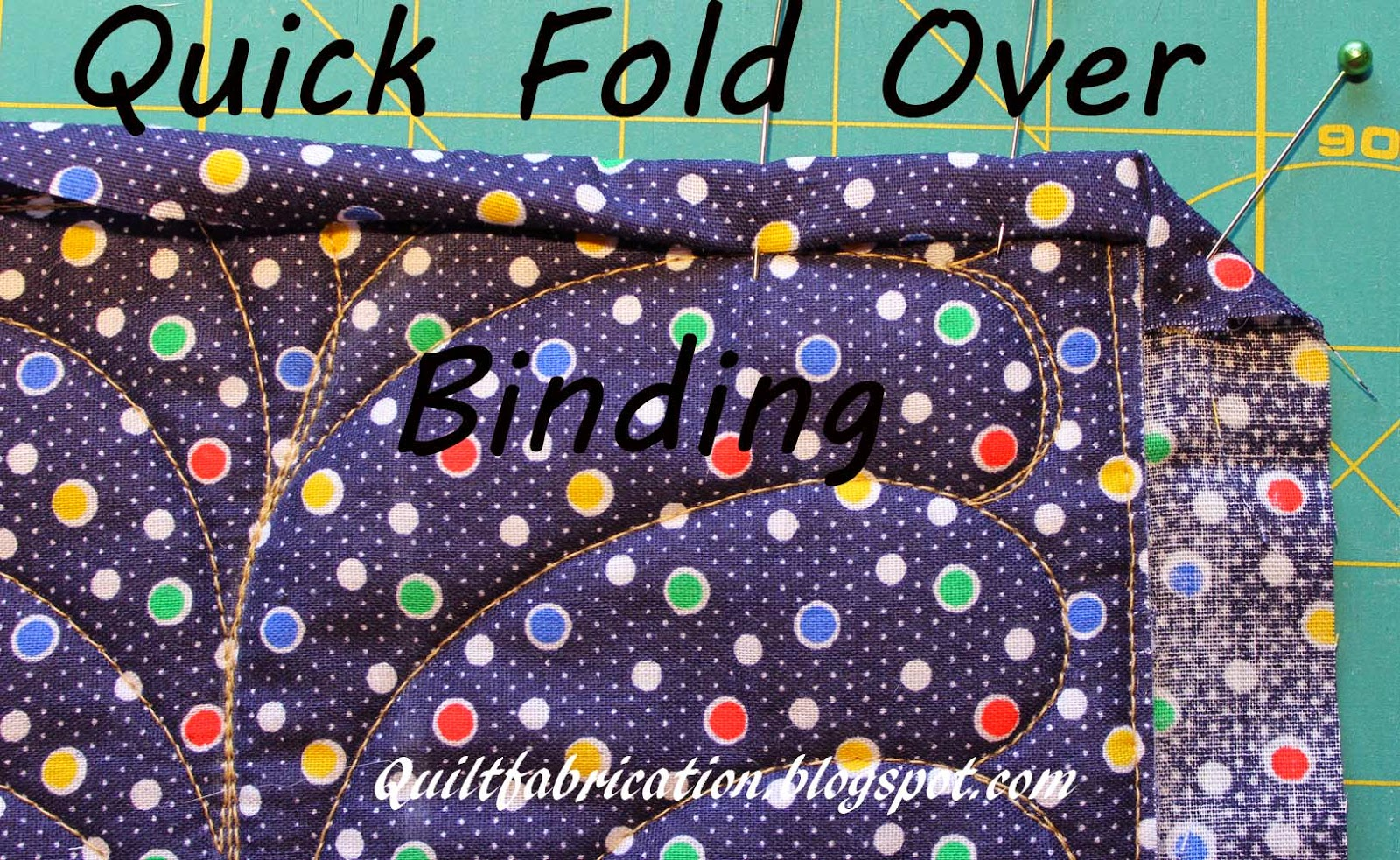 fast quick easy fold over binding