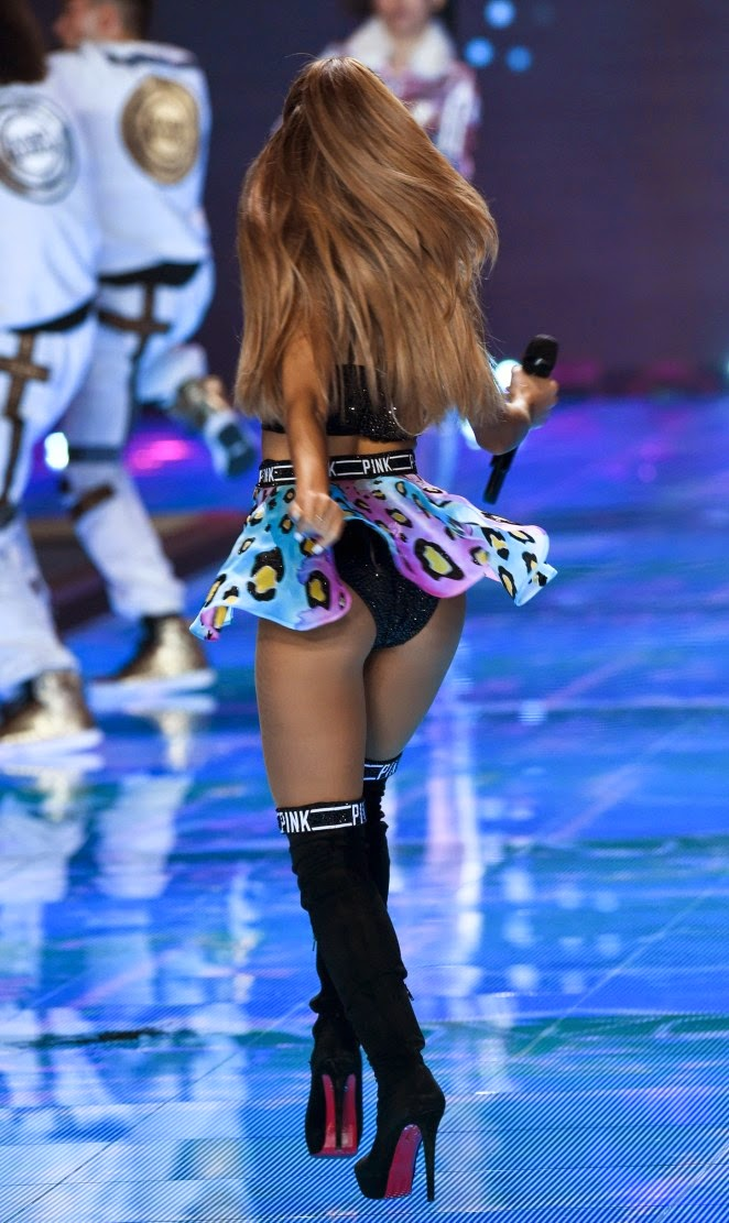 Ariana Grande performs at the 2014 Victoria's Secret Fashion Show in London